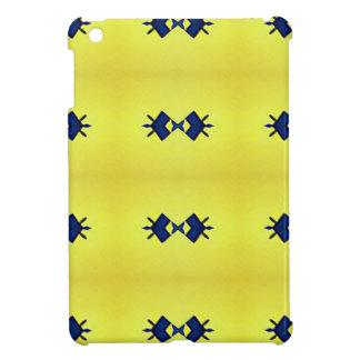 Bright Vibrant Yellow Navy Pattern iPad Mini Cover