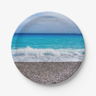 Bright View of the Sea 7 Inch Paper Plate