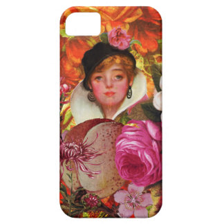 Bright Vintage Woman Flower Garden iPhone 5 Cover