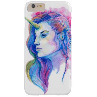 Bright Violet Magic Unicorn Fantasy Illustration Barely There iPhone 6 Plus Case
