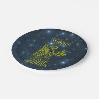 Bright Virgo Paper Plate