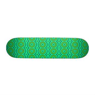 Bright vivid colors floral ethnic green skate deck