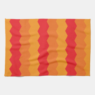 Bright Warm Abstract Waves Kitchen Towel