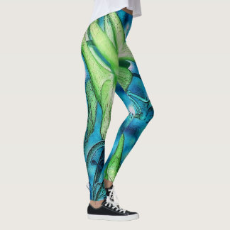 Bright Water Lily Leggings
