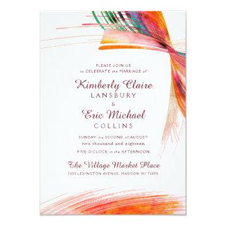 Bright Watercolor Brush Wedding Invitations