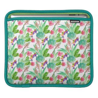 Bright Watercolor Cactus & Succulent Pattern iPad Sleeve