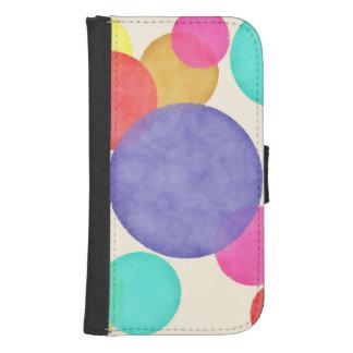 Bright Watercolor Circles Samsung S4 Wallet Case