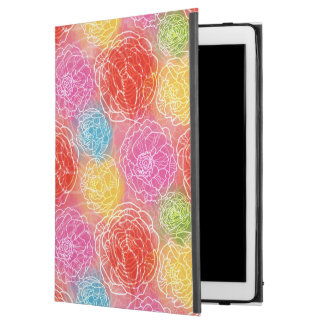 "Bright Watercolor Floral Pattern Red Yellow Pink iPad Pro 12.9"" Case"