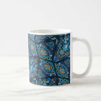 Bright wedding geometric floral tradition pattern classic white coffee mug