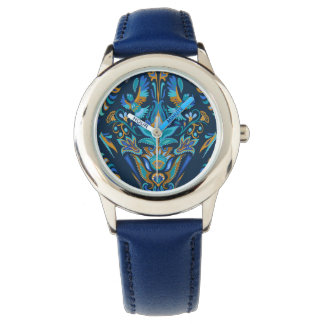 Bright wedding geometric floral tradition pattern wristwatches