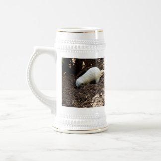 Bright_White_Meerkat_Digging,_White_Beer_Stein Beer Stein