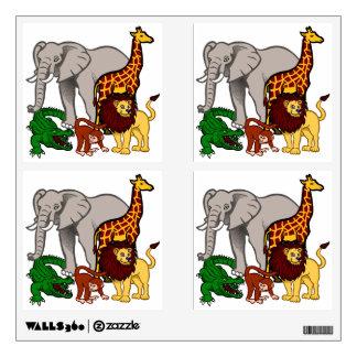 Bright Wild Animals Wall Sticker