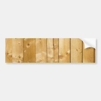 Bright Wood Background Bumper Sticker