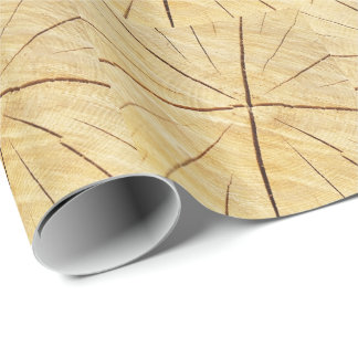 Bright wood with grain gift paper