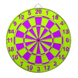 Bright Yellow and Purple Dartboard