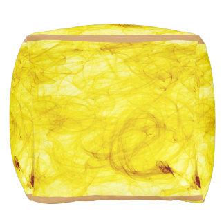 bright yellow around pouf