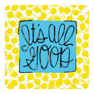 Bright yellow blue pattern uplifting words card