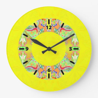Bright Yellow Clock with Pastel Donut