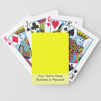 bright yellow DIY custom background template Bicycle Playing Cards