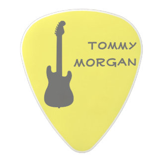Bright Yellow Electric Guitar Polycarbonate Guitar Pick