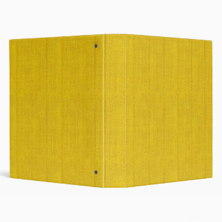 Bright Yellow Fabric Vinyl Binder