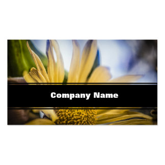 Bright Yellow Flower Pack Of Standard Business Cards