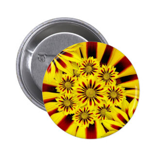 Bright Yellow Flowers 2 Inch Round Button