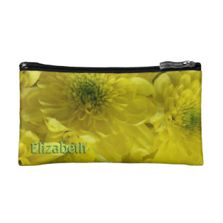 Bright Yellow Flowers Personalized Makeup Bag