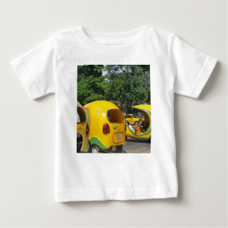 Bright yellow fun coco taxis from Cuba Baby T-Shirt