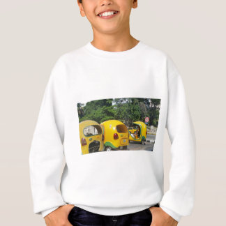 Bright yellow fun coco taxis from Cuba Sweatshirt