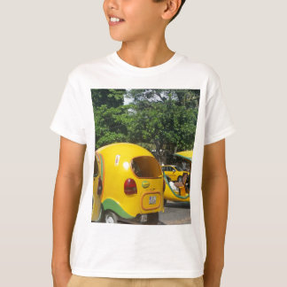 Bright yellow fun coco taxis from Cuba T-Shirt