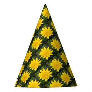 Bright Yellow Gazania Flower Party Hat