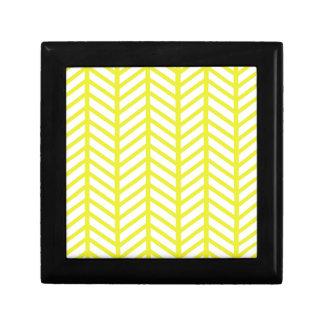 bright yellow herringbone gift box