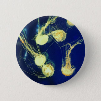 Bright Yellow Jellyfish 2 Inch Round Button
