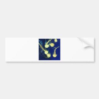 Bright Yellow Jellyfish Bumper Sticker