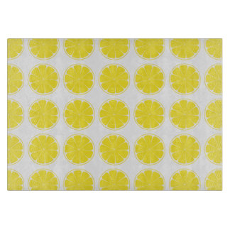 Bright Yellow Lemon Citrus Fruit Chopping Board
