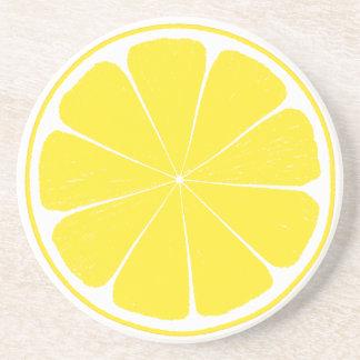 Bright Yellow Lemon Citrus Fruit Slice Coaster
