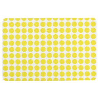 Bright Yellow Lemon Citrus Fruit Slice Design Floor Mat