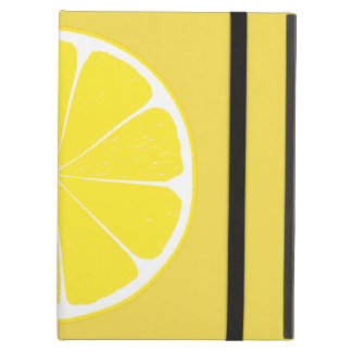 Bright Yellow Lemon Citrus Fruit Slice Design iPad Air Covers