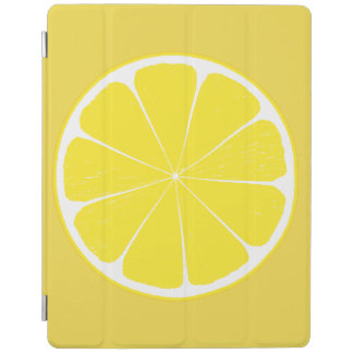 Bright Yellow Lemon Citrus Fruit Slice Design iPad Cover