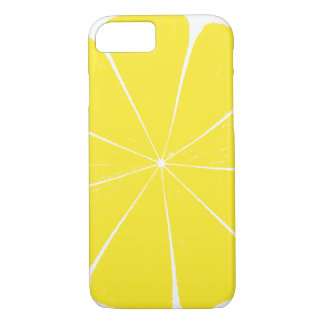 Bright Yellow Lemon Citrus Fruit Slice Design iPhone 8/7 Case