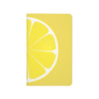 Bright Yellow Lemon Citrus Fruit Slice Design Journal