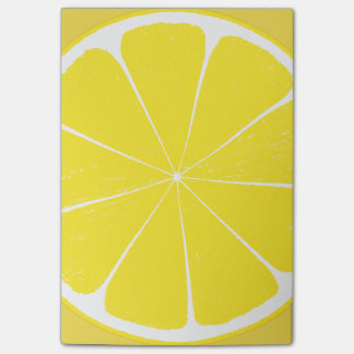 Bright Yellow Lemon Citrus Fruit Slice Design Post-it® Notes