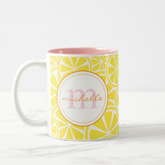 Bright Yellow Lemon Slices Personalized Summer Mug