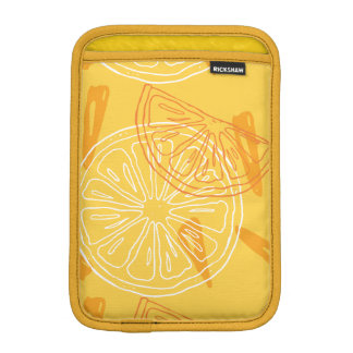 Bright yellow lemons drawn summer pattern iPad mini sleeve