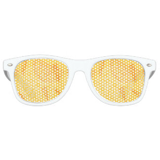 Bright yellow lemons drawn summer pattern retro sunglasses