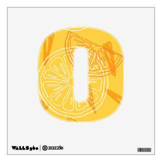 Bright yellow lemons drawn summer pattern wall decal