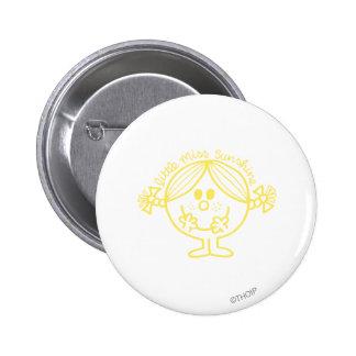 Bright Yellow Little Miss Sunshine 2 Inch Round Button