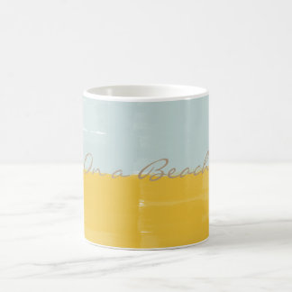 Bright Yellow Mint Watercolor On a Beach Mug