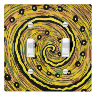 Bright Yellow Modern Abstract Light Switch Cover